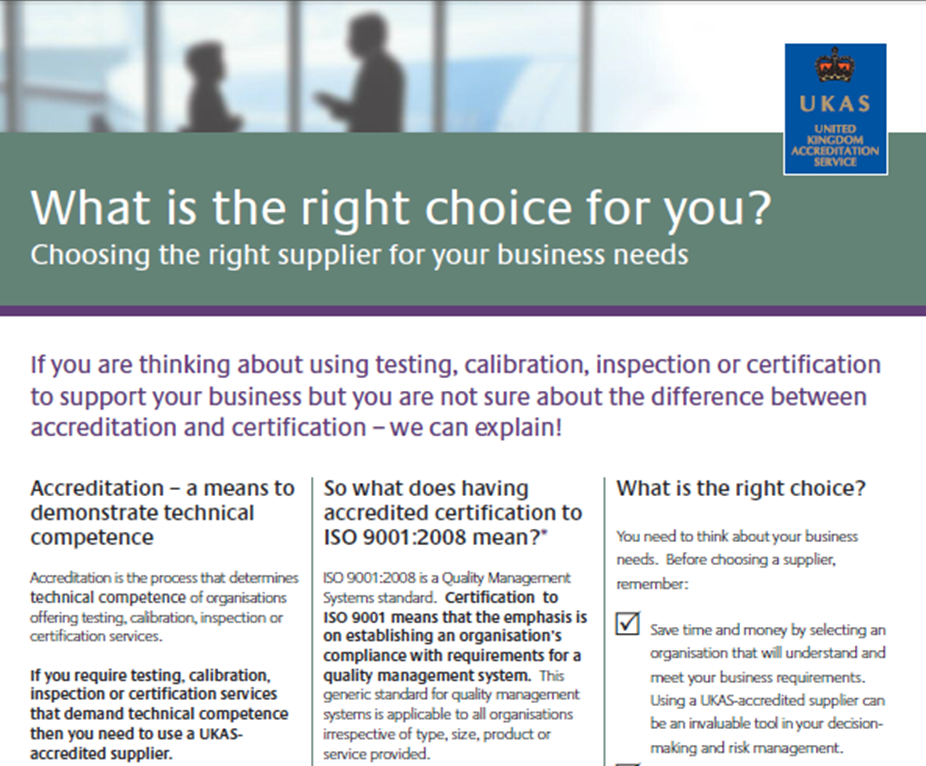UKAS : Certification Bodies – Management Systems