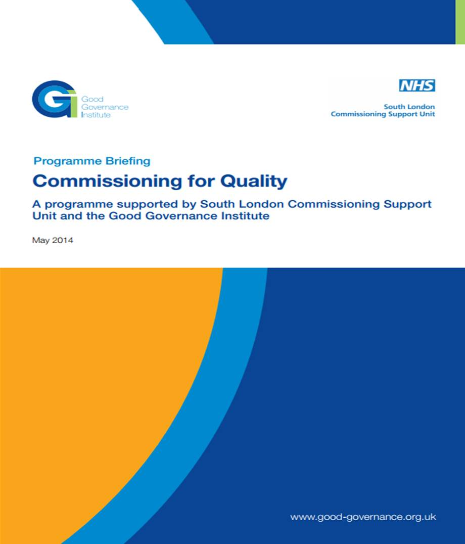 Commissioning for quality