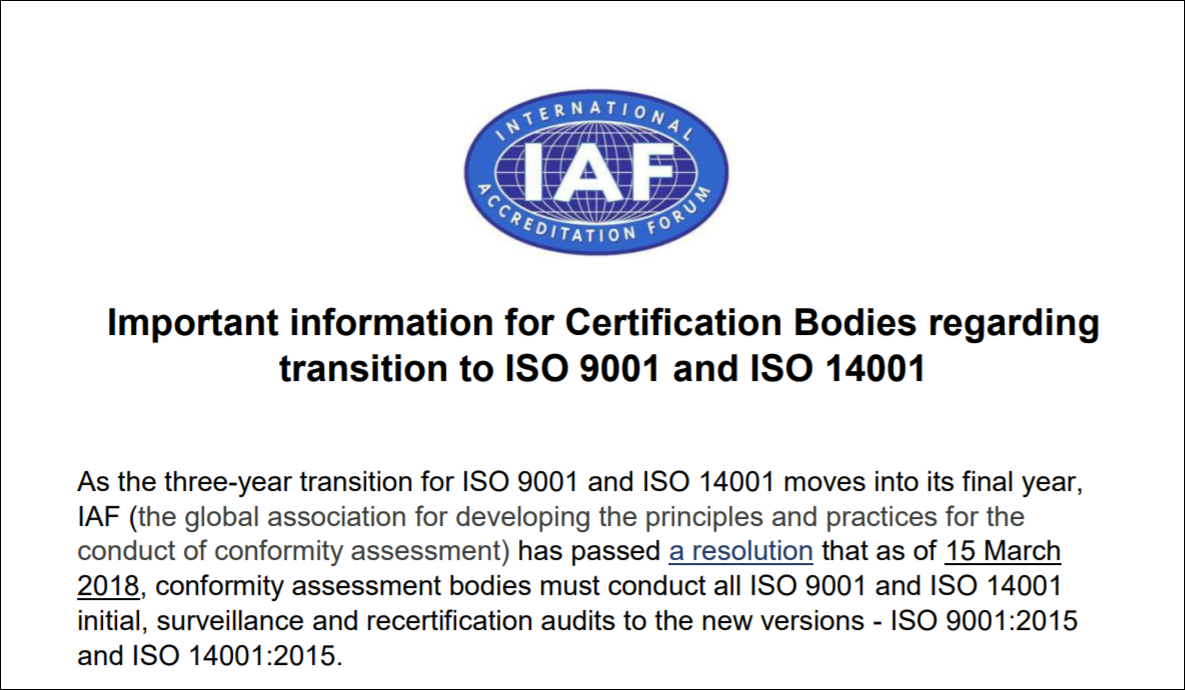 Ukas faqs important information for certification bodies regarding transition to iso 9001 iso 14001 xflitez Gallery